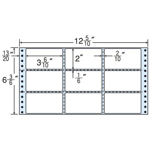 東洋印刷 タックシール nana レギュラータイプ (連続ラベル) 500折×2 M12M:
