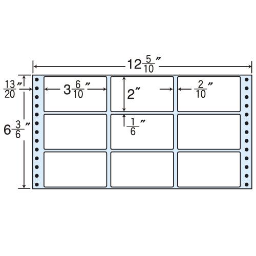 東洋印刷 タックシール nana レギュラータイプ (連続ラベル) 500折×2 MT12G: