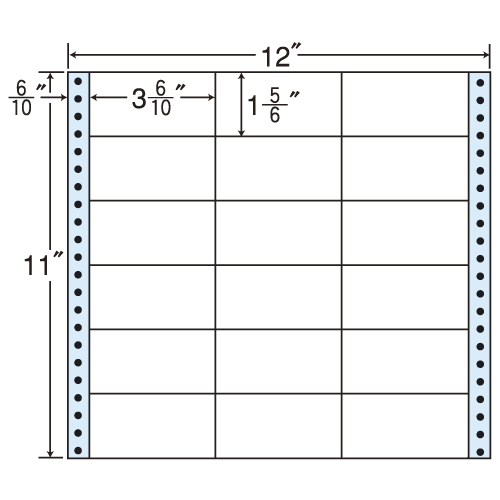 東洋印刷 タックシール nana レギュラータイプ (連続ラベル) 500折 M12D: