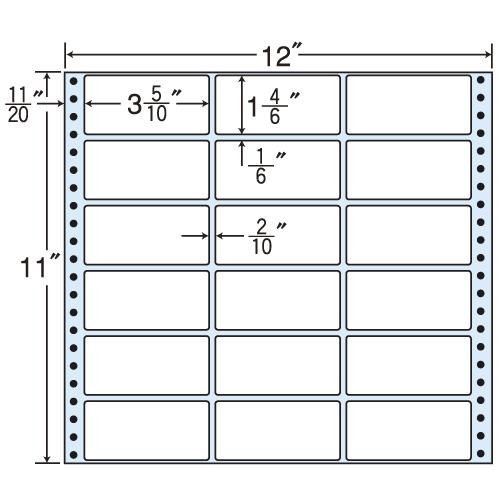 東洋印刷 タックシール nana レギュラータイプ (連続ラベル) 500折 M12P: