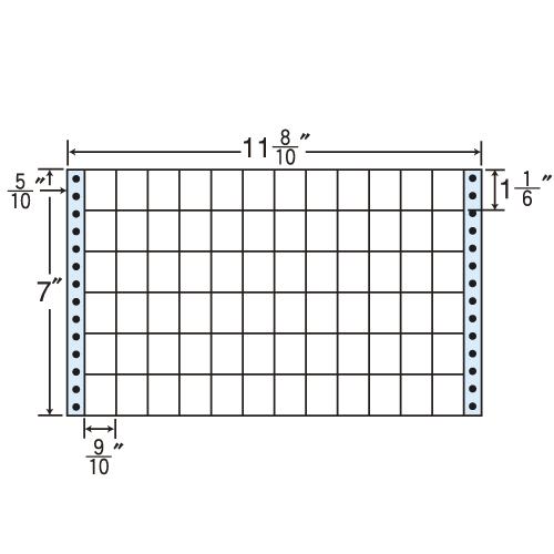 東洋印刷 タックシール nana レギュラータイプ (連続ラベル) 500折×2 M11H: