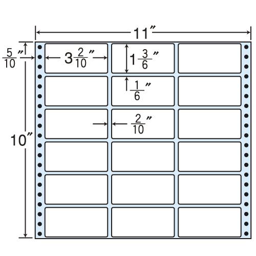 東洋印刷 タックシール nana レギュラータイプ (連続ラベル) 500折 M11G: