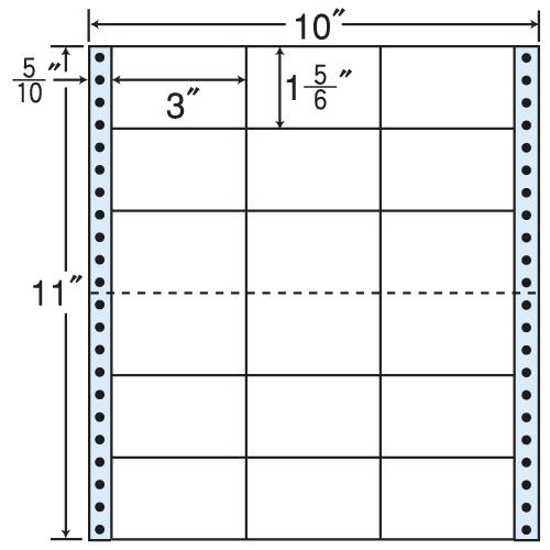 東洋印刷 タックシール nana レギュラータイプ (連続ラベル) 500折 M10J: