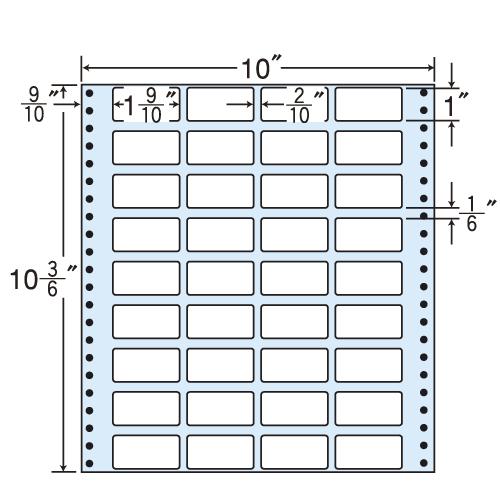 東洋印刷 タックシール nana レギュラータイプ (連続ラベル) 500折 MX10G: