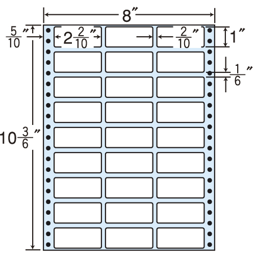 東洋印刷 タックシール nana レギュラータイプ (連続ラベル) 500折 MT8W: