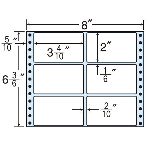 東洋印刷 タックシール nana レギュラータイプ (連続ラベル) 500折×2 MM8U: