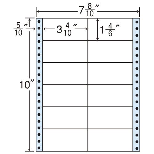 東洋印刷 タックシール nana レギュラータイプ (連続ラベル) 500折×2 MM7B: