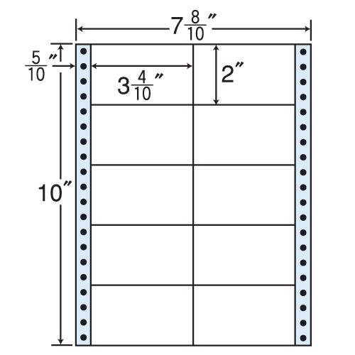 東洋印刷 タックシール nana レギュラータイプ (連続ラベル) 500折×2 MM7E: