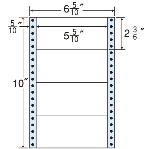 東洋印刷 タックシール nana レギュラータイプ (連続ラベル) 500折×2 MM6D: