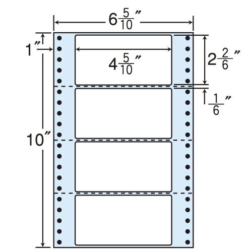 東洋印刷 タックシール nana レギュラータイプ (連続ラベル) 500折×2 MT6i:
