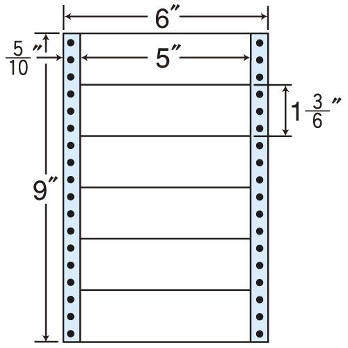 東洋印刷 タックシール nana レギュラータイプ (連続ラベル) 500折×2 MM6K: