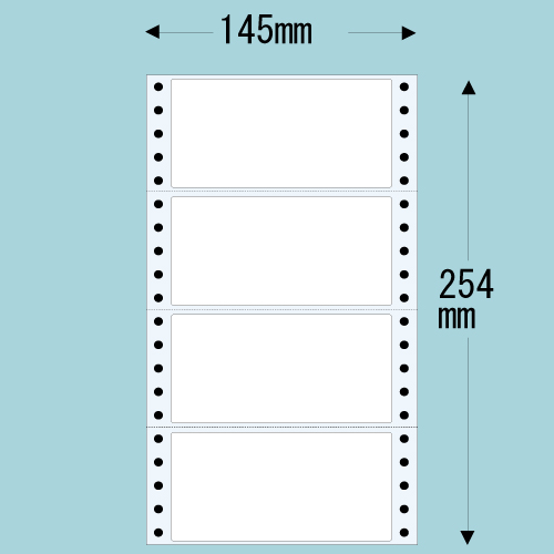 東洋印刷 Oタックシール nana レギュラータイプ (連続ラベル) 500折×2 MT5: