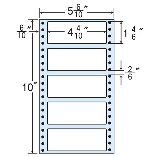 東洋印刷 タックシール nana レギュラータイプ (連続ラベル) 500折×2 MM5R: