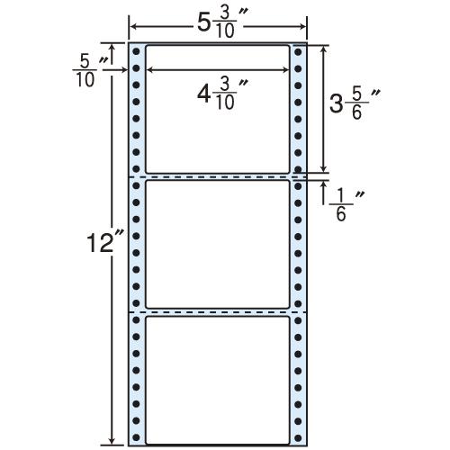 東洋印刷 タックシール nana レギュラータイプ (連続ラベル) 500折×2 MT5D: