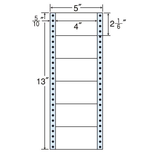 東洋印刷 タックシール nana レギュラータイプ (連続ラベル) 500折×2 MM5J: