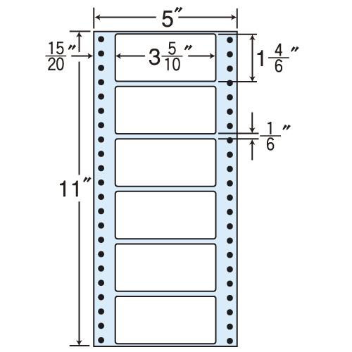 東洋印刷 タックシール nana レギュラータイプ (連続ラベル) 500折×2 MM5E:
