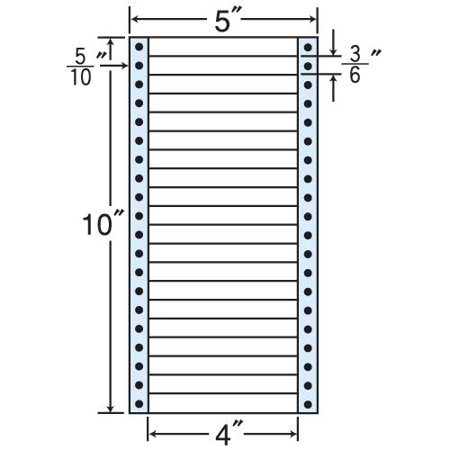 東洋印刷 タックシール nana レギュラータイプ (連続ラベル) 500折×2 MM5D: