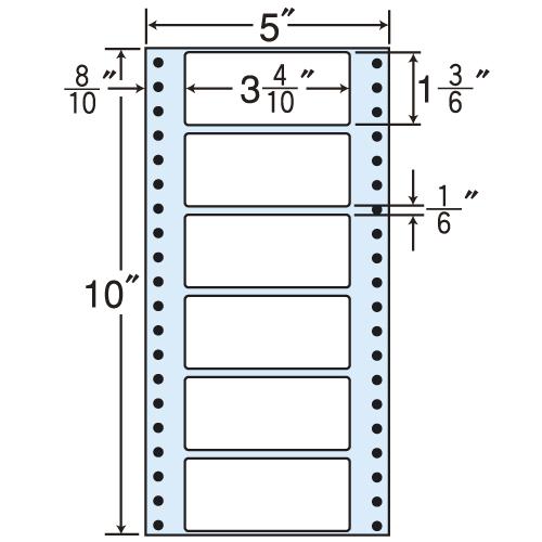東洋印刷 タックシール nana レギュラータイプ (連続ラベル) 500折×2 MM5F: