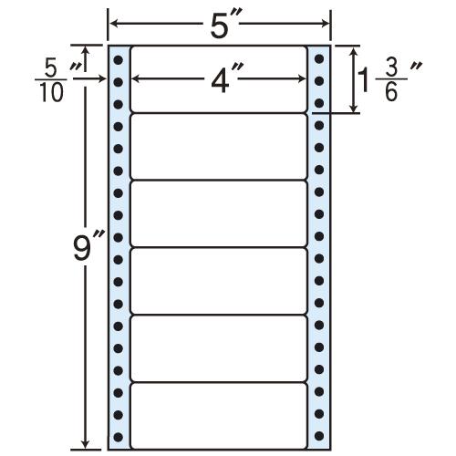 東洋印刷 タックシール nana レギュラータイプ (連続ラベル) 500折×2 MM5X:
