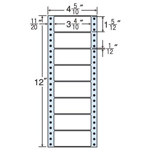 東洋印刷 タックシール nana レギュラータイプ (連続ラベル) 500折×2 MM4A: