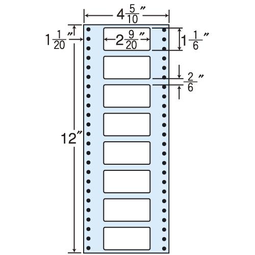 東洋印刷 タックシール nana レギュラータイプ (連続ラベル) 500折×2 MM4D:
