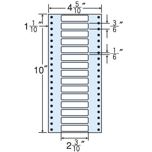 東洋印刷 タックシール nana レギュラータイプ (連続ラベル) 500折×2 MM4P: