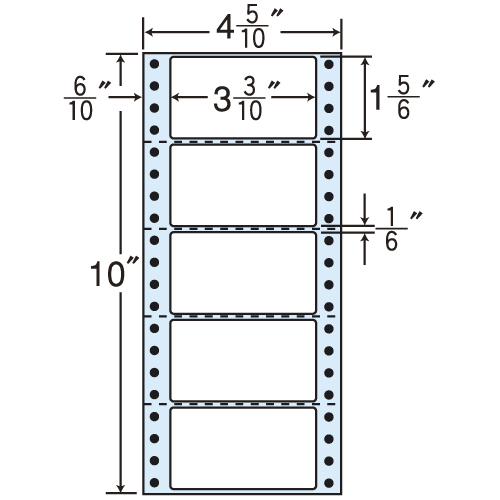 東洋印刷 タックシール nana レギュラータイプ (連続ラベル) 500折×2 MM4R: