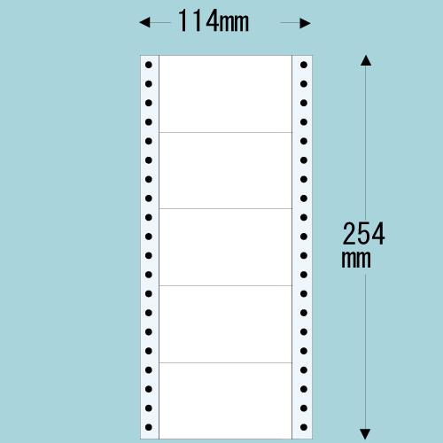 東洋印刷 タックシール nana レギュラータイプ (連続ラベル) 500折×2 MM4C: