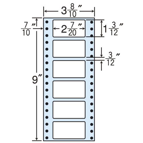 東洋印刷 タックシール nana レギュラータイプ (連続ラベル) 500折×2 MM3AB: