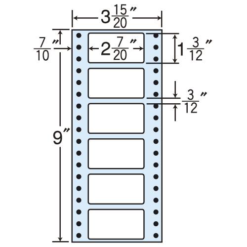 東洋印刷 タックシール nana レギュラータイプ (連続ラベル) 500折×2 MM3A: