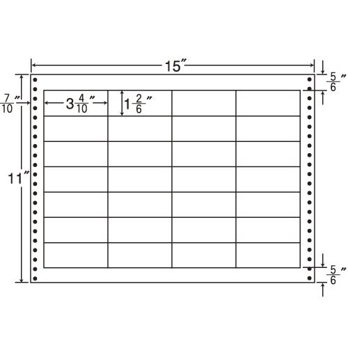 東洋印刷 タックシール nana 耐熱タイプ (連続ラベル) 500折 LX15K: