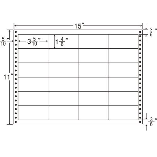 東洋印刷 タックシール nana 耐熱タイプ (連続ラベル) 500折 LB15J: