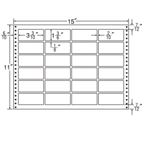 東洋印刷 タックシール nana 耐熱タイプ (連続ラベル) 500折 LX15N: