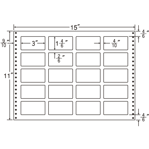 東洋印刷 タックシール nana 耐熱タイプ (連続ラベル) 500折 LB15H:
