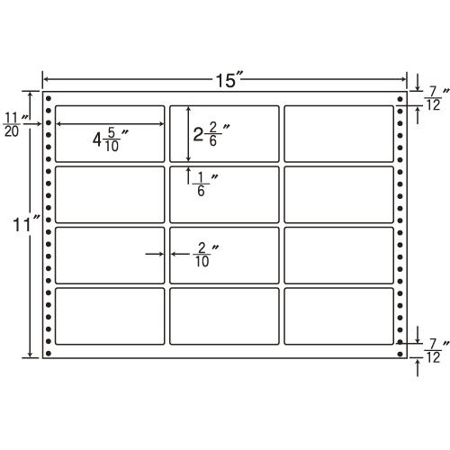 東洋印刷 タックシール nana 耐熱タイプ (連続ラベル) 500折 LH15E: