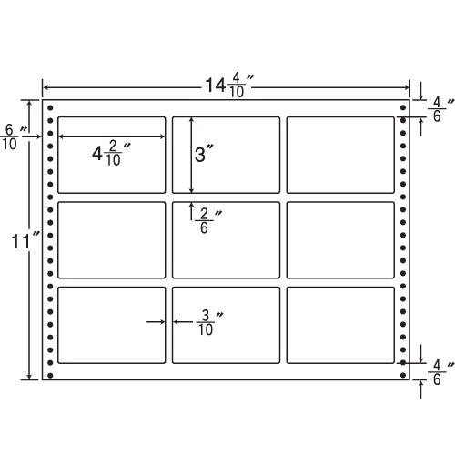 東洋印刷 タックシール nana 耐熱タイプ (連続ラベル) 500折 LB14G: