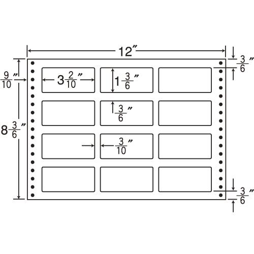 東洋印刷 Oタックシール nana 耐熱タイプ (連続ラベル) 500折 LT12: