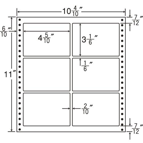 東洋印刷 タックシール nana 耐熱タイプ (連続ラベル) 500折 L10A: