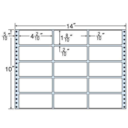 東洋印刷 タックシール nana 再剥離タイプ (連続ラベル) 500折 RX14X: