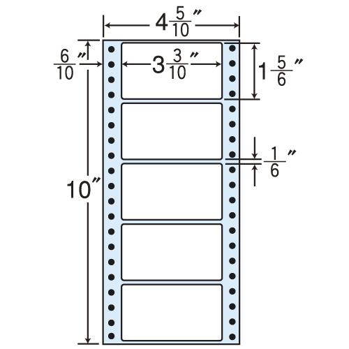 東洋印刷 タックシール nana レギュラータイプ (連続ラベル) 100折×10 MM4BS: