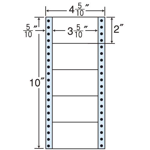 東洋印刷 タックシール nana レギュラータイプ (連続ラベル) 100折×10 MM4CS: