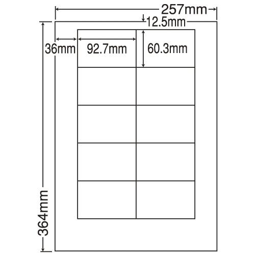 東洋印刷 ラベルシール nana 汎用タイプ PDラベル対応 B4 LEW10M: