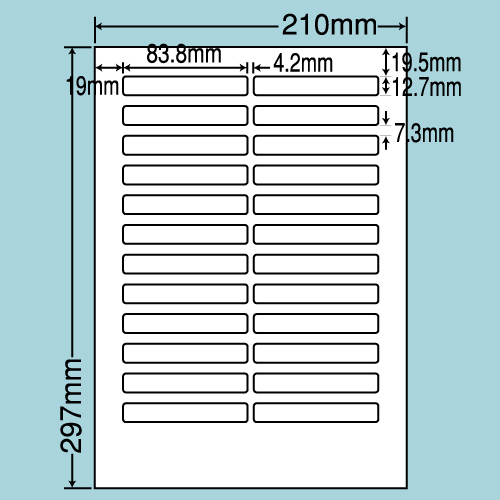 東洋印刷 ラベルシール nana 汎用タイプ A4 100シート×5 LDW24EB: