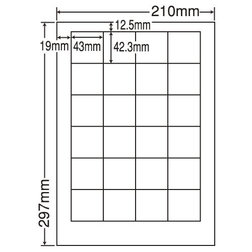 東洋印刷 ラベルシール nana 汎用タイプ A4 500シート LDW24P:
