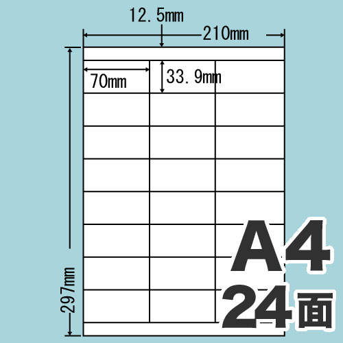 東洋印刷 ラベルシール nana 汎用タイプ A4 500シート LDZ24U: