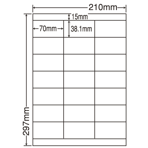 東洋印刷 ラベルシール nana 汎用タイプ A4 500シート LDZ21QC: