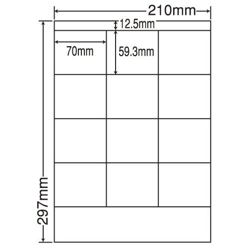 東洋印刷 ラベルシール nana 汎用タイプ A4 500シート LDZ12SB: