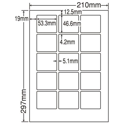 東洋印刷 ラベルシール nana 汎用タイプ A4 500シート LDW15MB: