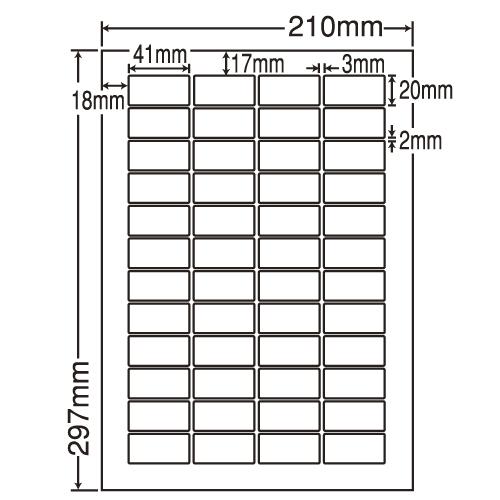 東洋印刷 ラベルシール nana 再剥離タイプ A4 500シート LDW48EF: