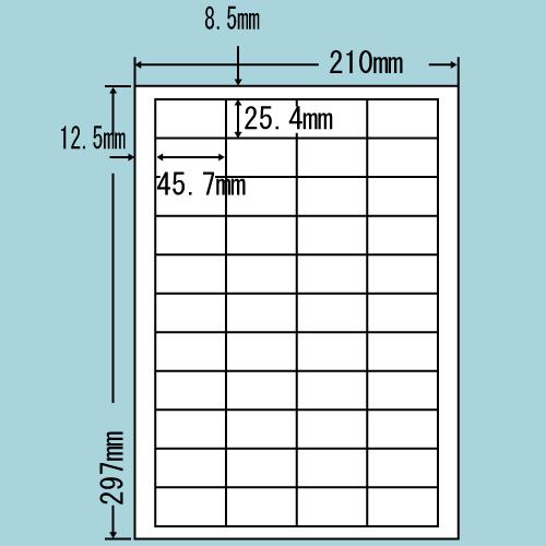東洋印刷 ラベルシール nana 再剥離タイプ A4 500シート LDW44CF: